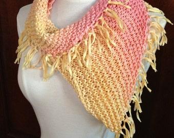 Loom & Needle Mini-poncho Triangle Cowl PATTERN. Cowl-lick Knitwear