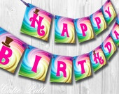 Willy Wonka Party, Candy Party - PRINTABLE BIRTHDAY BANNER - Cutie Putti Paperie