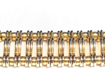 Vintage Signed KRAMER of NY Wide Bracelet,Wonderful Piece