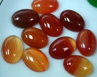 2 pcs  13x18 mm Agate oval cabochon
