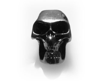 Metal Black Skull Beads, Qty 10.  Great for Paracord Projects