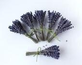 "Lavender Dried Bouquets Mini 6  ""Royal Velvet"" Edible Green Jute Twine"