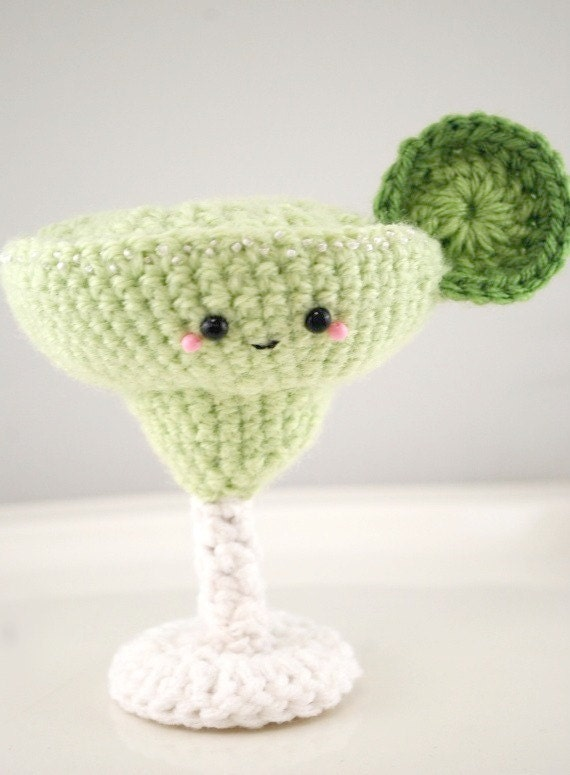 crochet cocktail-margarita amigurumi