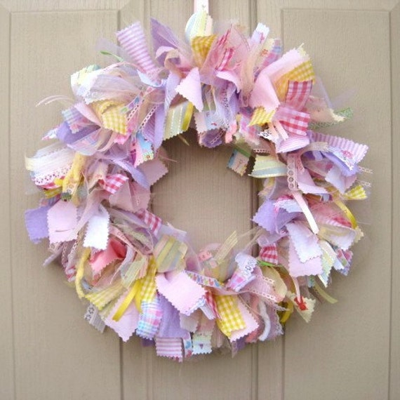 Newborn baby girl wreath baby door wreath baby by for Baby girl hospital door decoration