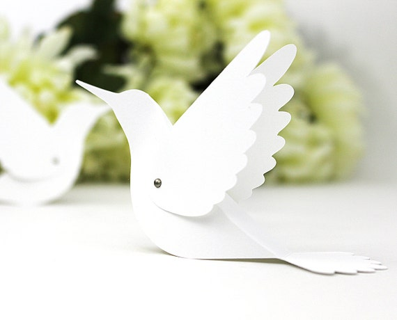20 Hummingbird Place Cards - Wedding Escort Cards / Bird Name Cards / Table Tents - Unique - Blank