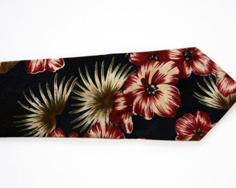 Hawaii Five-O Hibiscus Floral Tie