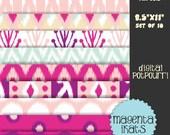 buy2get1 8.5x11 digital graphic for scrapbooking, card making, printing - magenta ikats