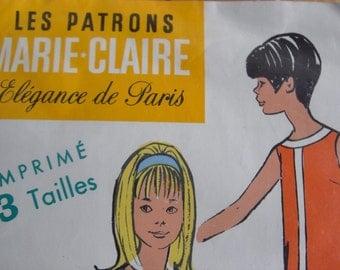 """French  1950s sewing pattern """"Les Patrons MARIE-CLAIRE"""" élégance de  Paris"""