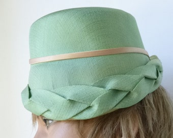 1950's-60's MOD Pale Green Straw Turban
