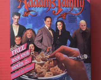 1991 DEADSTOCK unopened Adams Family Cereal Box