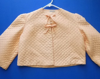 1930's-40's Quilted Bed Jacket by Barbizon- 34 -Rayon
