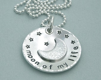 Game of Thrones Jewelry - Moon of My Life - Hand Stamped Sterling Silver Necklace - Game of Thrones Inspired -Valentine's Day