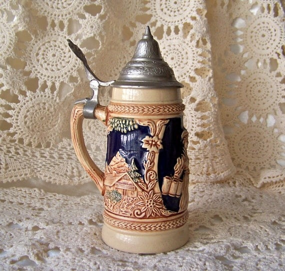 Thewalt West Germany .5 Liter Lidded Beer Stein | eBay |Vintage West Germany Beer Steins