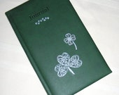 "Beautiful Writing Journal Celtic Shamrocks Leather Like Handcrafted Diary Ruled Notebook 5 1/8"" x 8 1/4"""