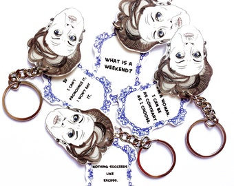 Never Wrong - Quotes Keychain - Dowager - Maggie Smith Inspired - Lady Grantham - Famous Quotes - Dowager Countess - Snarky - Sarcasm