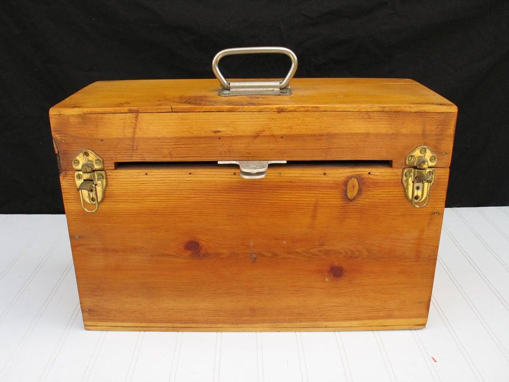 Vintage Wood Tool Box ...