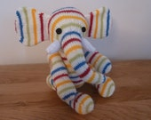 Custom Order For Dorothy (Deehuf) - Herbert the hand knitted jointed elephant