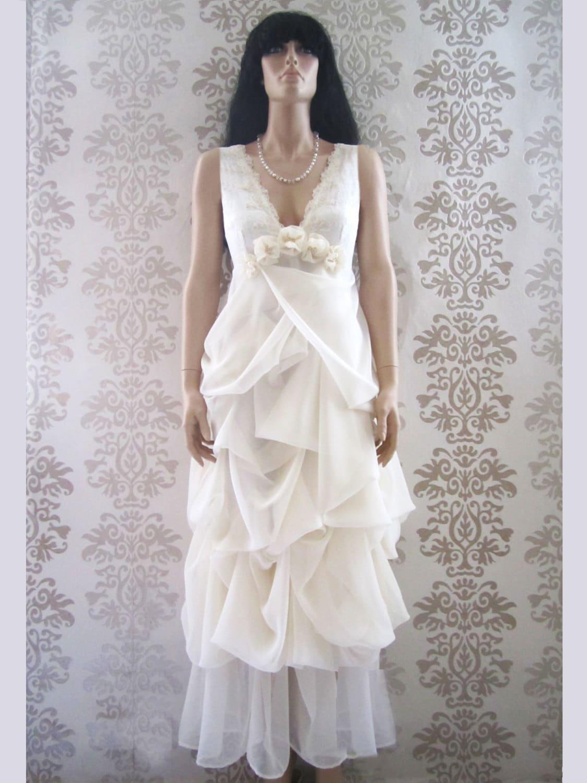 Long wedding gown wedding dress reception dress alternative for Long dress for wedding reception