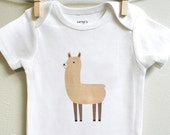 Llama baby clothes, Llama baby, baby girl or baby boy sizes 3 months - 18 months