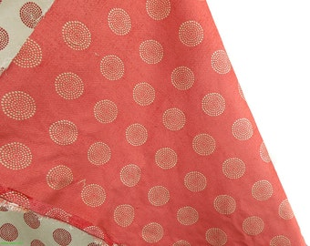 Pink and White Unknown Fabric Flower Pattern SALE WAS 19