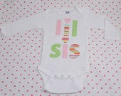 Hand Appliqued LIL SIS Infant Baby Girl Little Sister One-Piece