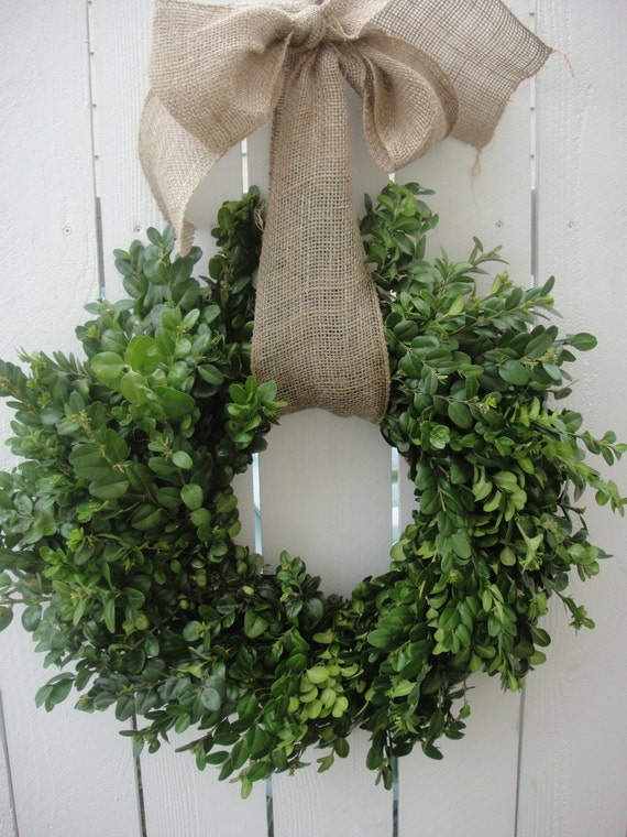 Dried Boxwood Wreath NOW ON SALE Saint Patricks Wreath