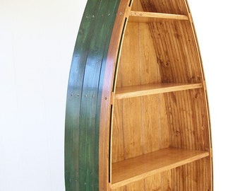Boat Bookcase, Height 69 inches, 5 shelves, Choice of Color, Personalized