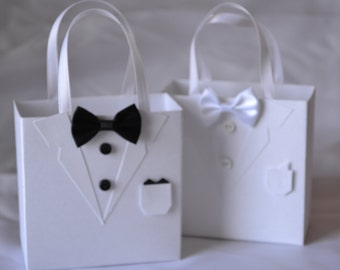 Tuxedo party favor bag great for wedding favors