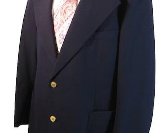 1970s Pierre Cardin Boutique France Vintage Navy Blazer   41