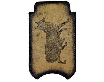 iPhone Leather Sleeve - Fox