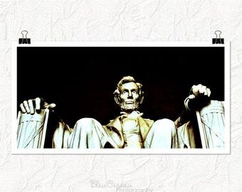Washington DC photography, lincoln memorial, panoramic 8x16 fine art print