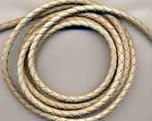 6 mm Light-Taupe Round Braided Bolo Faux Leather Cord, QUANTITY DISCOUNTS; 2yds, 4yds, 6yds