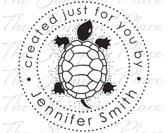 Personalized Custom Stamp - Turtle created just for you by - PK213