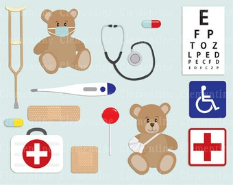 Medical clip art, doctor clip art images, royalty free clip art- Instant Download