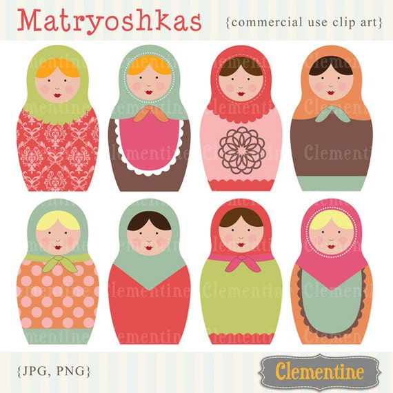 russian dolls images matryoshka images royalty free clip art rh catchmyparty com free vector clipart for commercial use free christmas clipart commercial use