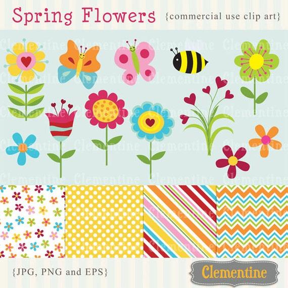 Spring flowers clip art images flower clipart flower vector il570xn mightylinksfo