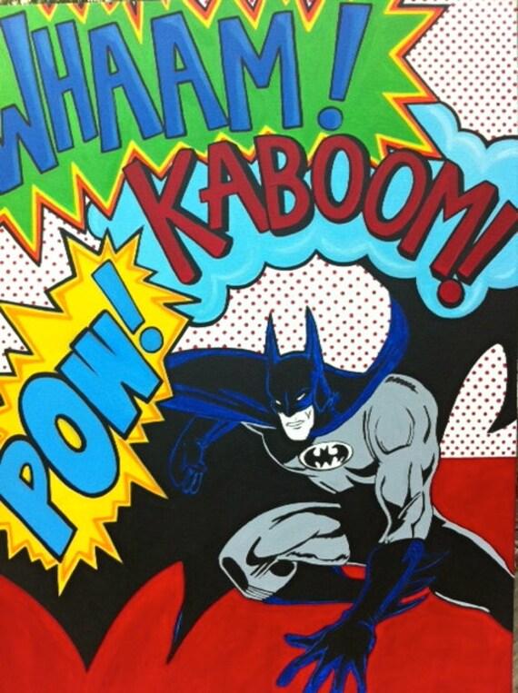 Batman Art Print Batman Pop Art Print 8x10