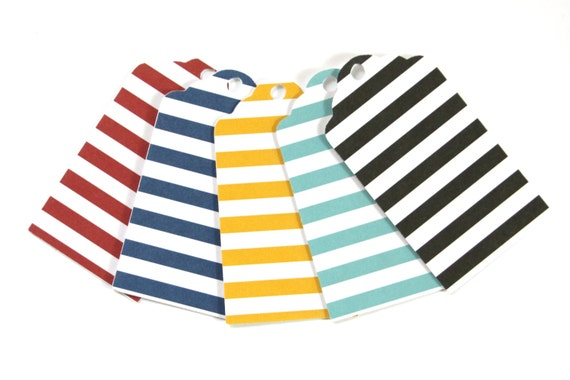 choose your colors 25 die cut nautical horizontal stripe layered