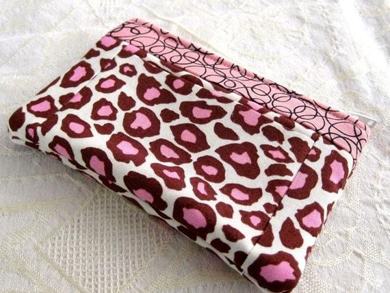 Wallet Coin Purse Card Carrier Pink Cheetah Spots Animal Print