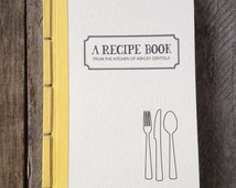 Made to Order Personalized Recipe Book- Choose Your Own Binding