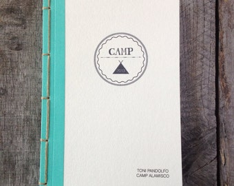 Personalized Camp Journal- Choose Your Own Binding