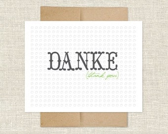 Danke Thank You Note Cards