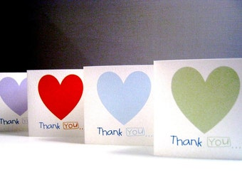 Heart Thank you Cards - Set of 8