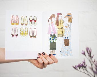 Illustrated Zine (fashion zine, summer zine, animals zine, best friend gift, birthday gift, girls zine, teenage daughter gift, illustration)