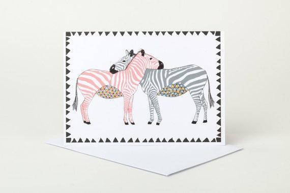 Zebra Love Valentines Day Greeting Card