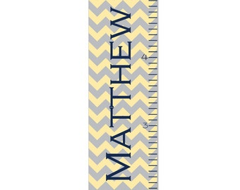 Growth Chart Children Chevron Canvas Growth Chart Personalized OHSC