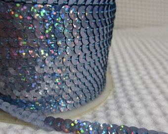 5 Yards Shimmering Bluish Grey Sequin Trim - 38
