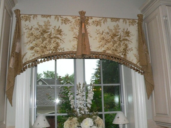 Items Similar To French Country Window Valances Custom