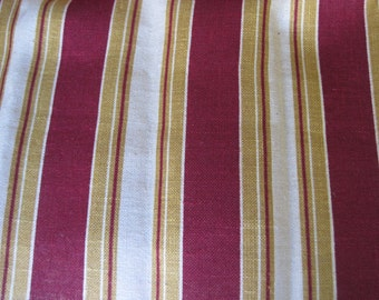 "Vintage French Unused Clairfontaine Grand Teint Meuble Strong Hessian Type Fabric 65"" by 50"" Upholstery Fabric"