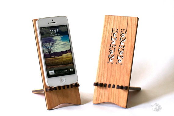 Wood Flower iPhone 5 Stand, iPhone 6, iPhone 6 Plus